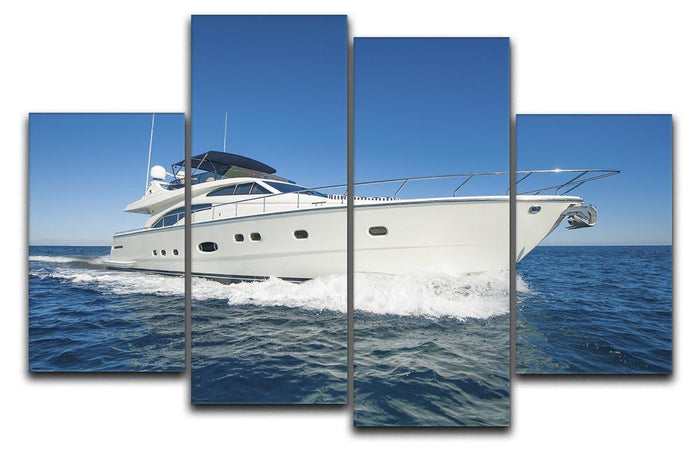 A luxury private motor yacht 4 Split Panel Canvas