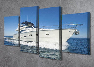 A luxury private motor yacht 4 Split Panel Canvas  - Canvas Art Rocks - 2