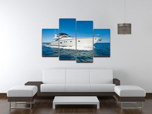 A luxury private motor yacht 4 Split Panel Canvas  - Canvas Art Rocks - 3