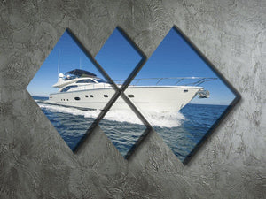 A luxury private motor yacht 4 Square Multi Panel Canvas  - Canvas Art Rocks - 2