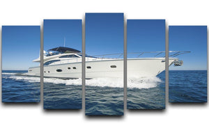 A luxury private motor yacht 5 Split Panel Canvas  - Canvas Art Rocks - 1