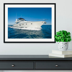 A luxury private motor yacht Framed Print - Canvas Art Rocks - 1