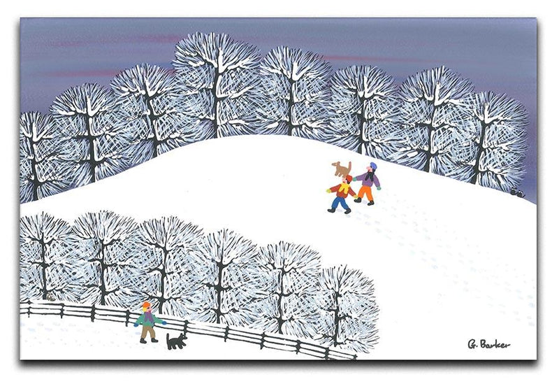 A walk in the snow by Gordon Barker Canvas Print or Poster - Canvas Art Rocks - 1