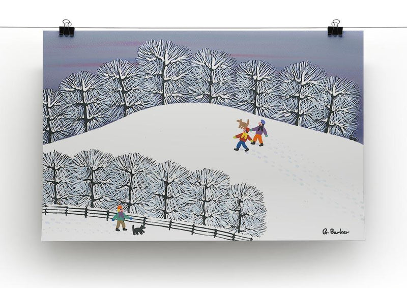 A walk in the snow by Gordon Barker Canvas Print or Poster - Canvas Art Rocks - 2