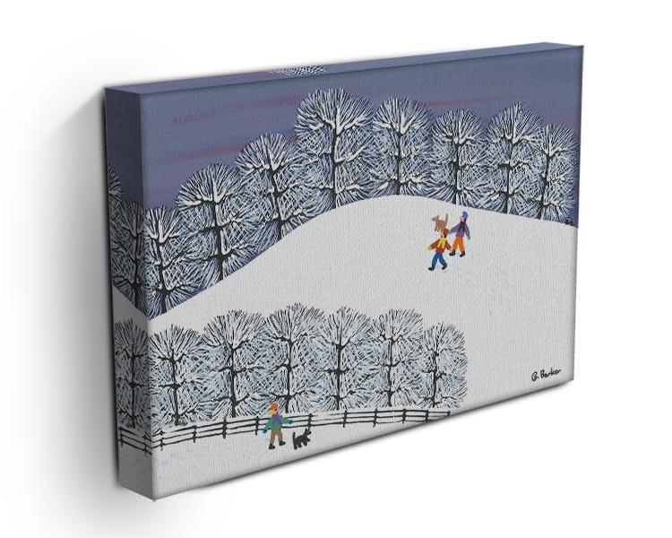 A walk in the snow by Gordon Barker Canvas Print or Poster - Canvas Art Rocks - 3