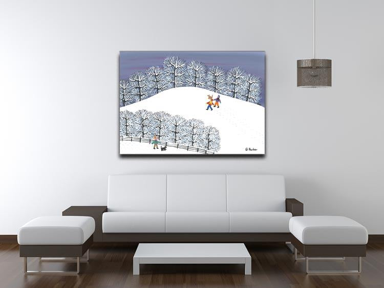 A walk in the snow by Gordon Barker Canvas Print or Poster - Canvas Art Rocks - 4