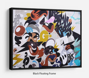 Abstract Graffiti Floating Frame Canvas