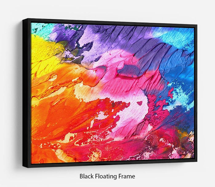 Abstract Oil Paint Floating Frame Canvas