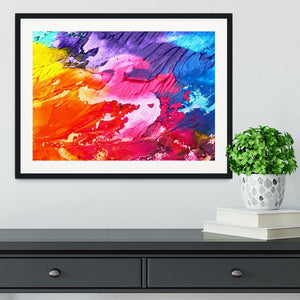 Abstract Oil Paint Framed Print - Canvas Art Rocks - 1