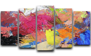 Abstract art 5 Split Panel Canvas  - Canvas Art Rocks - 1