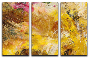 Abstract background by acrylic paint 3 Split Panel Canvas Print - Canvas Art Rocks - 1