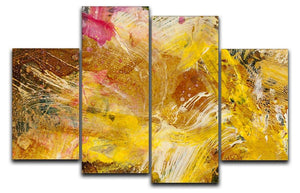 Abstract background by acrylic paint 4 Split Panel Canvas  - Canvas Art Rocks - 1