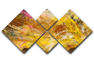 Abstract background by acrylic paint 4 Square Multi Panel Canvas  - Canvas Art Rocks - 1