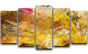 Abstract background by acrylic paint 5 Split Panel Canvas  - Canvas Art Rocks - 1