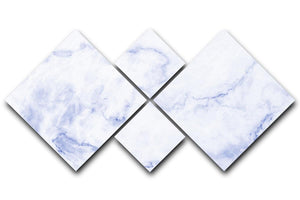 Abstract blue marble patterned 4 Square Multi Panel Canvas  - Canvas Art Rocks - 1