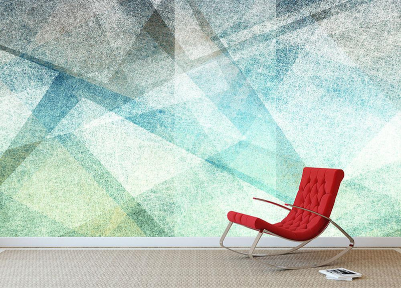 Abstract paper geometric Wall Mural Wallpaper - Canvas Art Rocks - 1