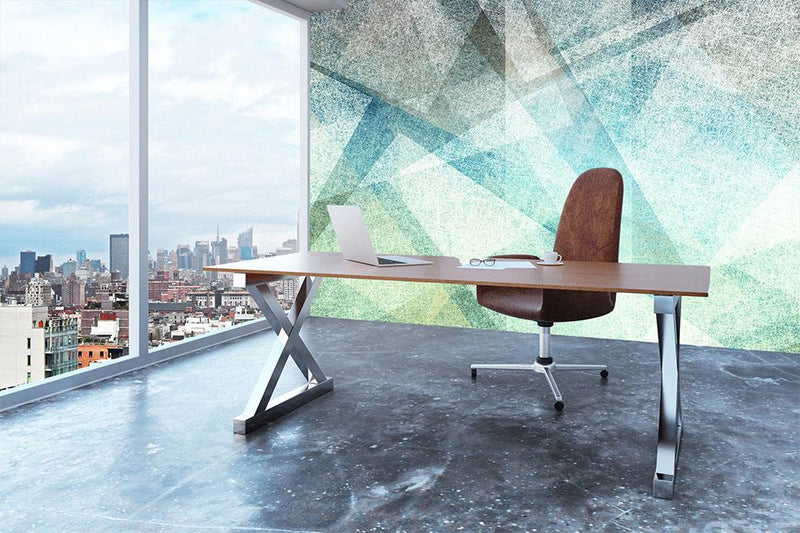 Abstract paper geometric Wall Mural Wallpaper - Canvas Art Rocks - 3