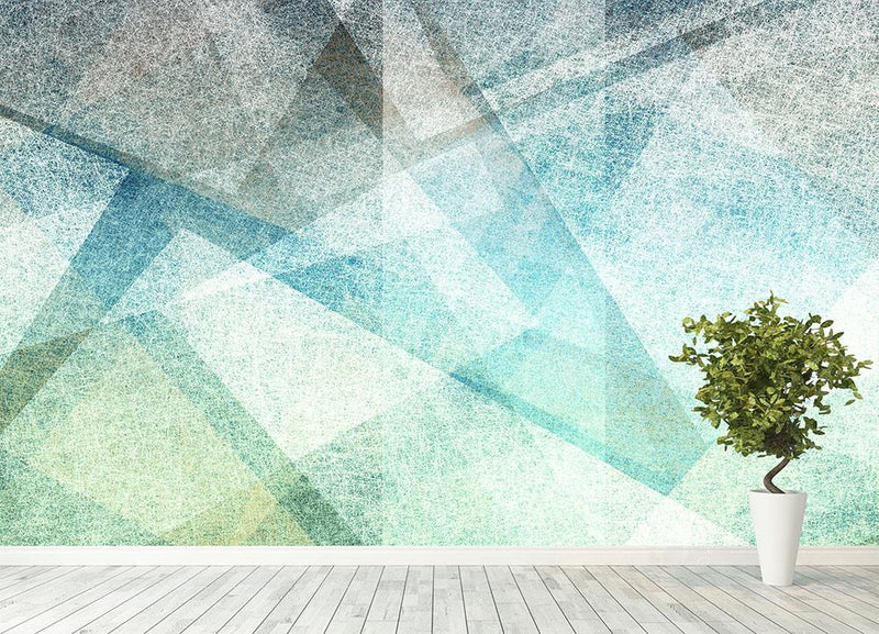 Abstract paper geometric Wall Mural Wallpaper - Canvas Art Rocks - 4