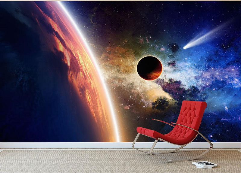 Abstract scientific background Wall Mural Wallpaper - Canvas Art Rocks - 1