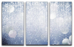 Abstract silver lights 3 Split Panel Canvas Print - Canvas Art Rocks - 1