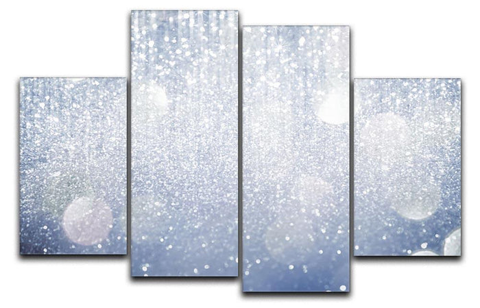 Abstract silver lights 4 Split Panel Canvas