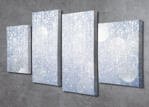 Abstract silver lights 4 Split Panel Canvas  - Canvas Art Rocks - 2