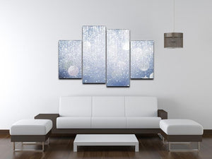 Abstract silver lights 4 Split Panel Canvas  - Canvas Art Rocks - 3
