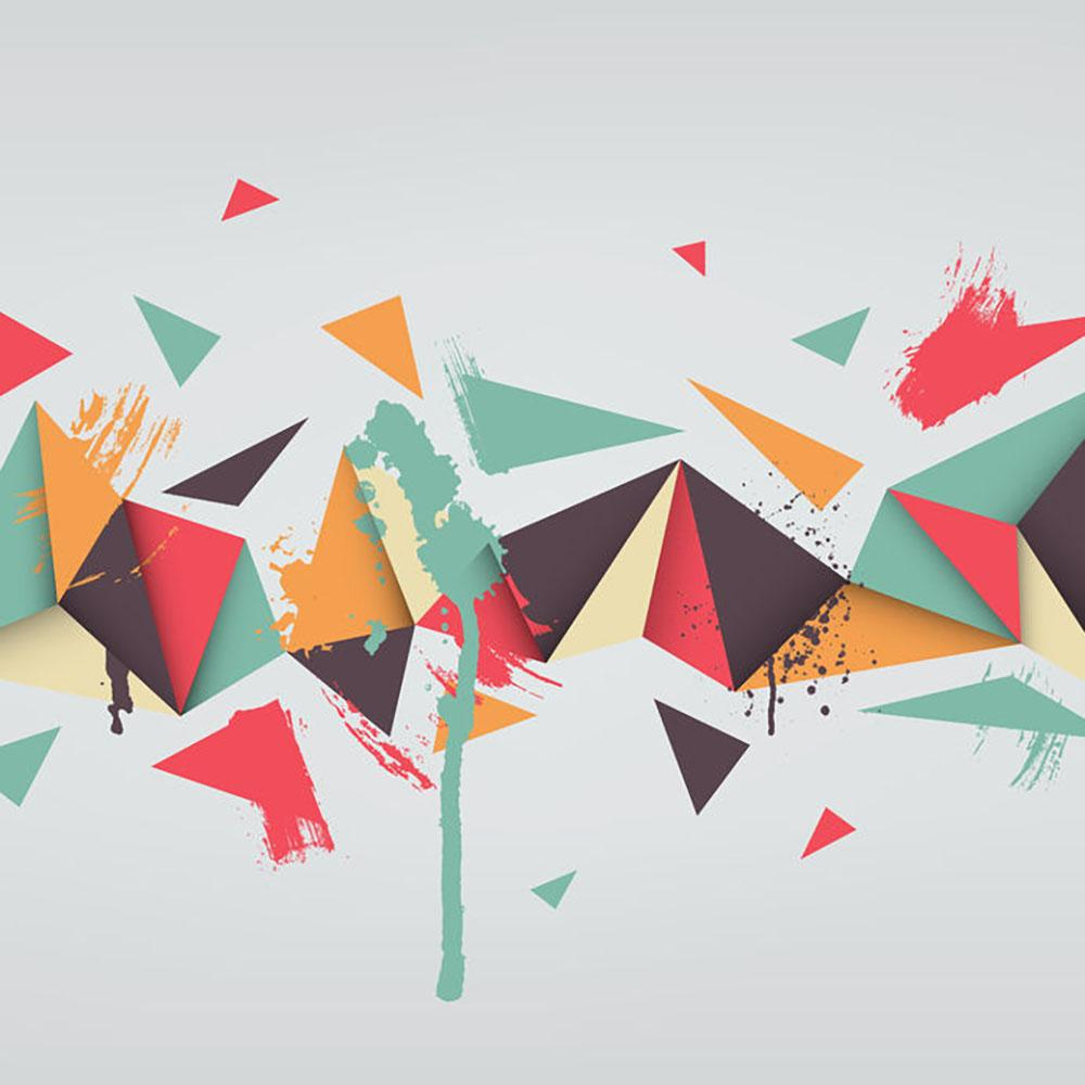 Abstract Texture With Triangles Wall Mural Wallpaper Canvas Art
