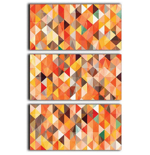 Abstract triangle seamless 3 Split Panel Canvas Print - Canvas Art Rocks - 1
