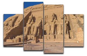 Abu Simbel Temple of King Ramses II 4 Split Panel Canvas  - Canvas Art Rocks - 1