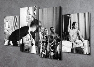 Actress Josephine Baker at the Prince Edward theatre 4 Split Panel Canvas - Canvas Art Rocks - 2