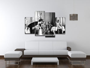 Actress Josephine Baker at the Prince Edward theatre 4 Split Panel Canvas - Canvas Art Rocks - 3
