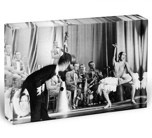 Actress Josephine Baker at the Prince Edward theatre Acrylic Block - Canvas Art Rocks - 1
