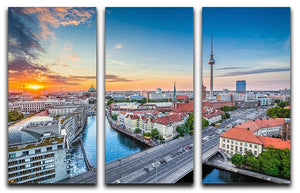 Aerial view of Berlin skyline 3 Split Panel Canvas Print - Canvas Art Rocks - 1