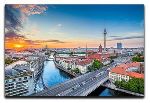 Aerial view of Berlin skyline Canvas Print or Poster  - Canvas Art Rocks - 1