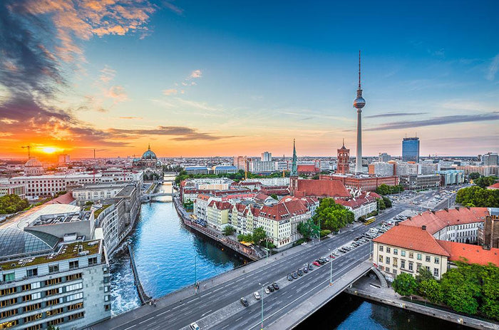 Aerial view of Berlin skyline Wall Mural Wallpaper