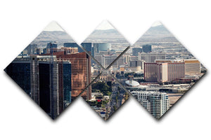 Aerial view of Las Vegas 4 Square Multi Panel Canvas  - Canvas Art Rocks - 1