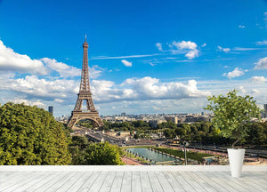 Aerial view of the Eiffel Tower Wall Mural Wallpaper - Canvas Art Rocks - 4