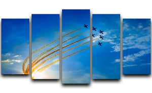 Aerobatic team performs flight 5 Split Panel Canvas  - Canvas Art Rocks - 1