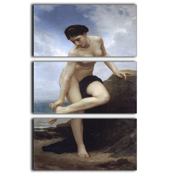 After the Bath By Bouguereau 3 Split Panel Canvas Print