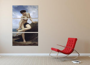 After the Bath By Bouguereau 3 Split Panel Canvas Print - Canvas Art Rocks - 2