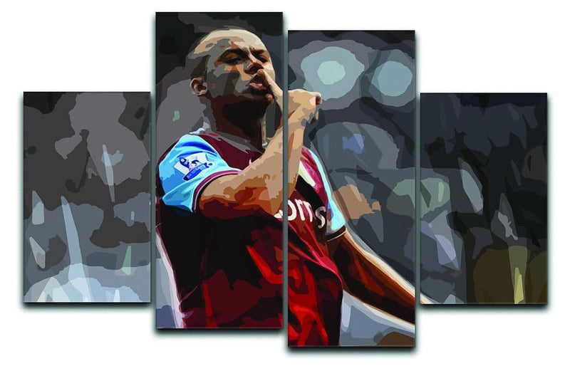 Agbonlahor Aston Villa 4 Split Panel Canvas  - Canvas Art Rocks - 1