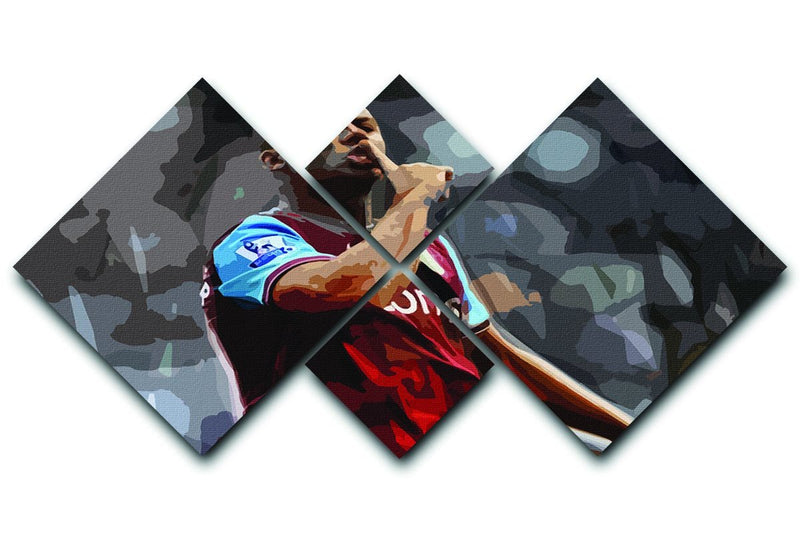 Agbonlahor Aston Villa 4 Square Multi Panel Canvas  - Canvas Art Rocks - 1
