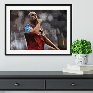 Agbonlahor Aston Villa Framed Print - Canvas Art Rocks - 1