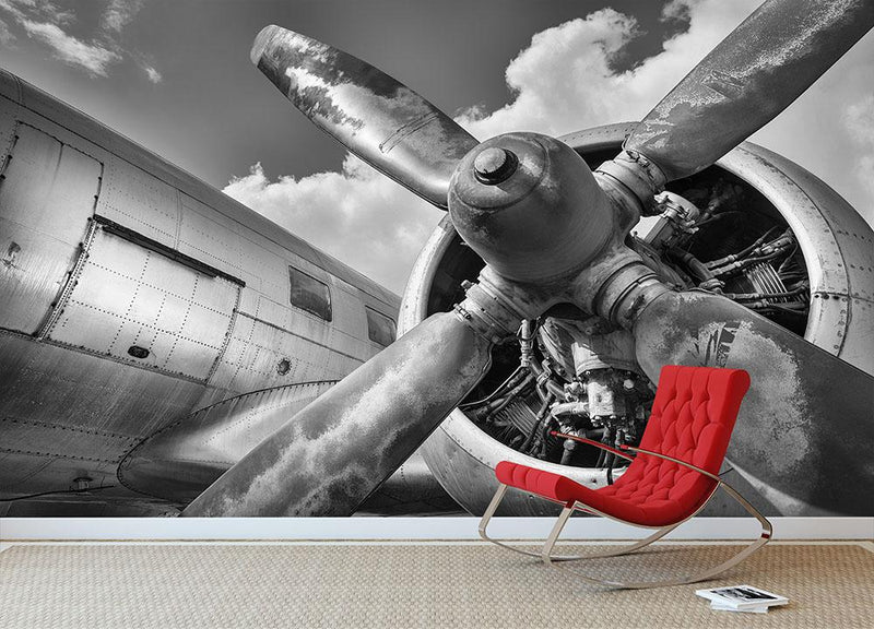 Airplane Wall Mural Wallpaper - Canvas Art Rocks - 1