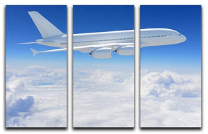 Airplane in the sky 3 Split Panel Canvas Print - Canvas Art Rocks - 1