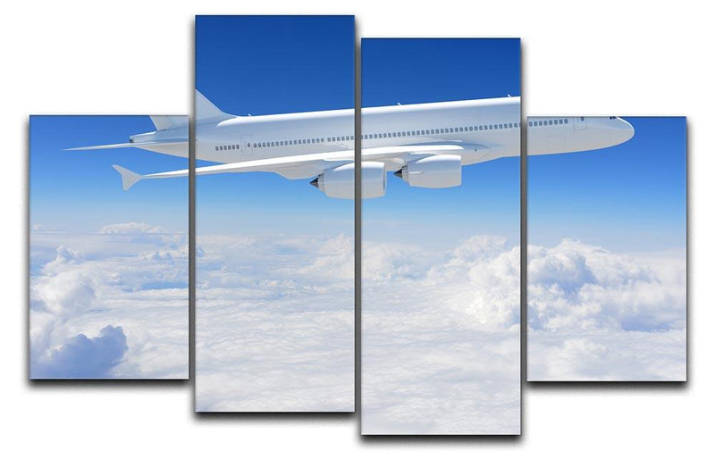 Airplane in the sky 4 Split Panel Canvas  - Canvas Art Rocks - 1