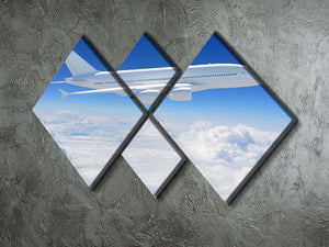 Airplane in the sky 4 Square Multi Panel Canvas  - Canvas Art Rocks - 2