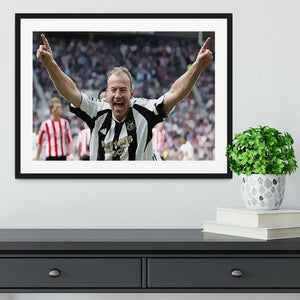 Alan Shearer Framed Print - Canvas Art Rocks - 1