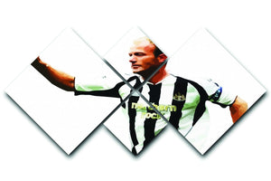 Alan Shearer Newcastle Goal Hero 4 Square Multi Panel Canvas  - Canvas Art Rocks - 1